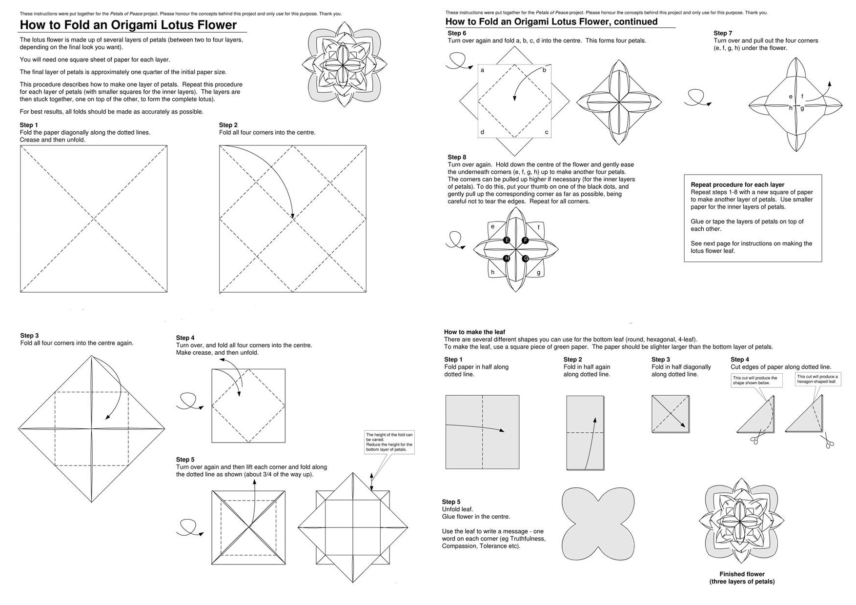How to Make an Abstract Origami Lotus: 8 Steps (with Pictures) | 1240x1754